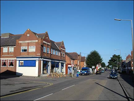 Wellingborough Road with former Co-op building