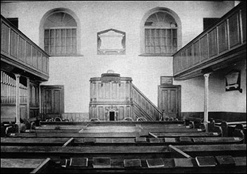 Inside the old Church in the 1800s