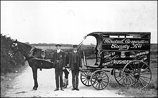 An early photograph of the Co-op delivery wagon