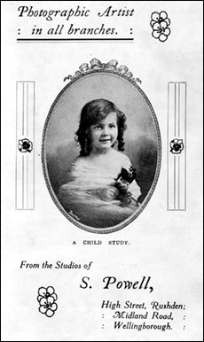 An advert for S Powell, photographer is from 1912