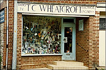 T. C. Wheatcroft, electrical shop in Church Street.