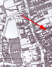1927 map showing Woburn Place