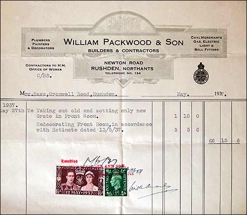 Rushden Research Group William Packwood Builder