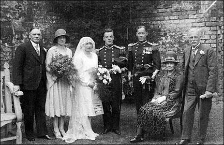 Edna & William's wedding 1929