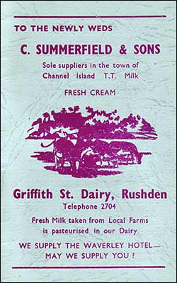 Advert - Summerfield's dairy