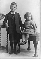 Mrs Vera Horn with her brother in 1924