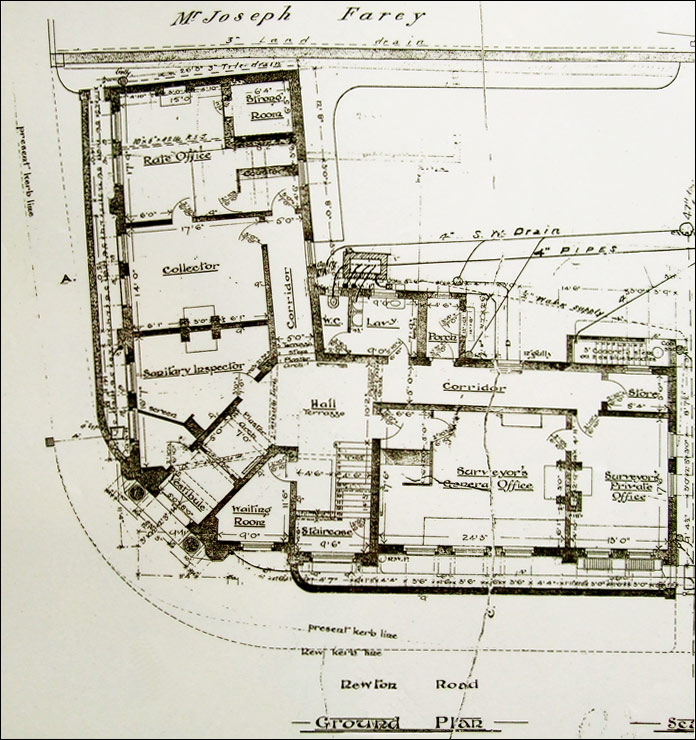 The plan drawn by Mr William Madin