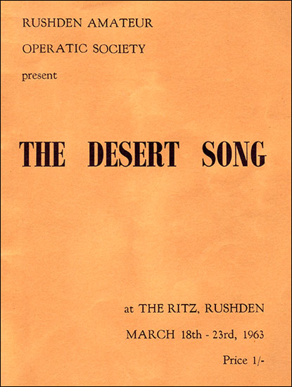 Rushden Research Group: operatic desert song
