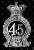 The badge of the 45th Regiment of Foot