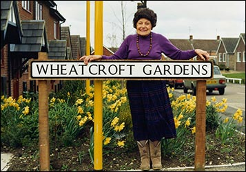 Mercedes Wheatcroft in Wheatcroft Gardens.