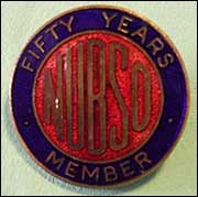 NUBSO badge for 50 years