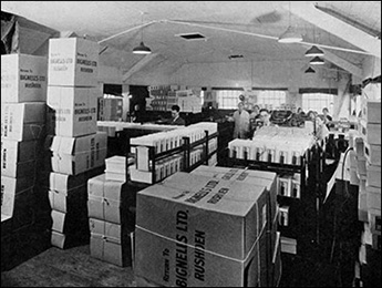 The despatch area