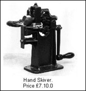 Hand skiving machine