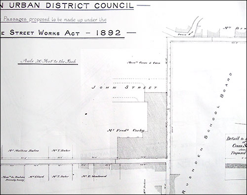 A plan showing the footpath