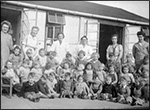 Tennyson Nursery in 1944.  Click here for the story of education in Rushden