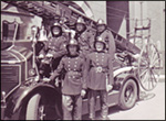 Rushden Fire Brigade in the 1950s.  Click here for details of Fire and Police services, plus reports of crimes, accidents and emergencies