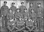 Local members of the Northants Regiment in the First World War. Click here for other information available on Rushden in wartime throughout the ages