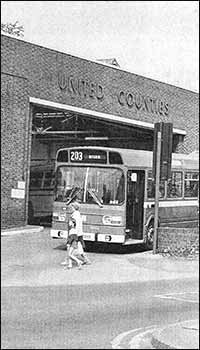 The bus garage in Newton Road
